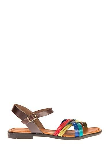 Uniquer Hakiki Deri Sandalet Renkli